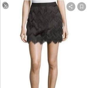BCBG fringe mini skirt